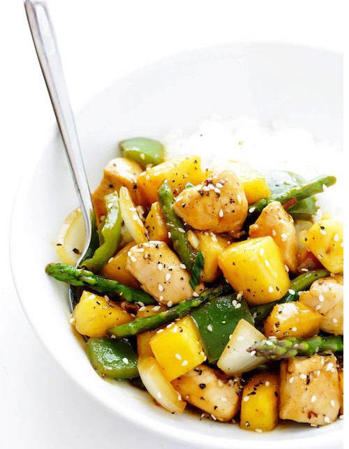 Pineapple ginger stir-fry