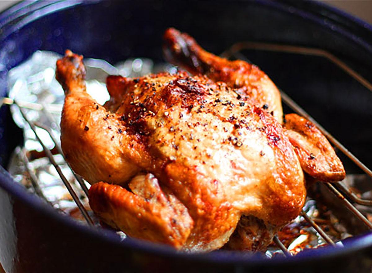 roasted garlic chicken whole