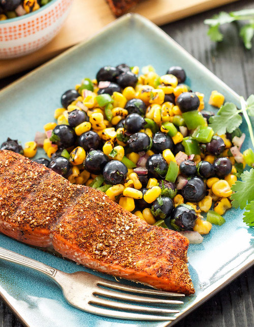 Southwest grilled salmon