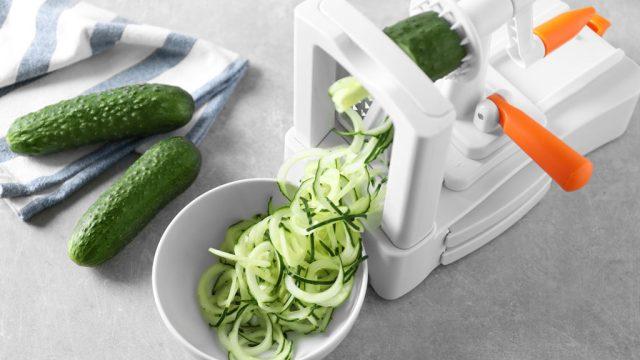 Spiralizer with cucumber