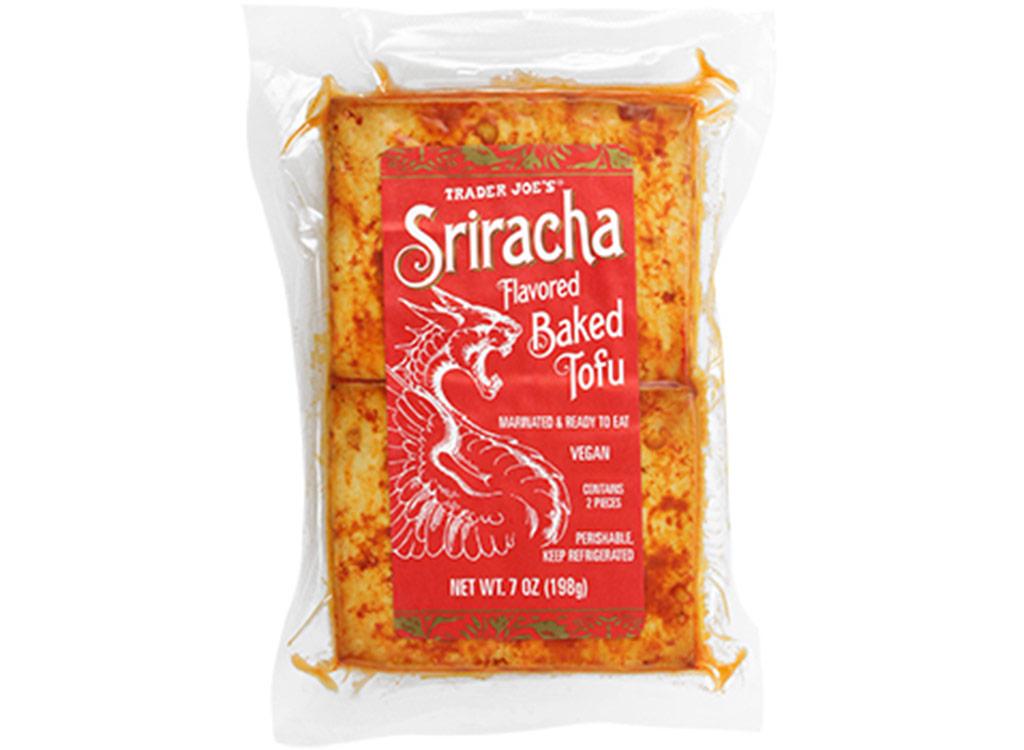 Trader joes Sriracha flavored baked tofu