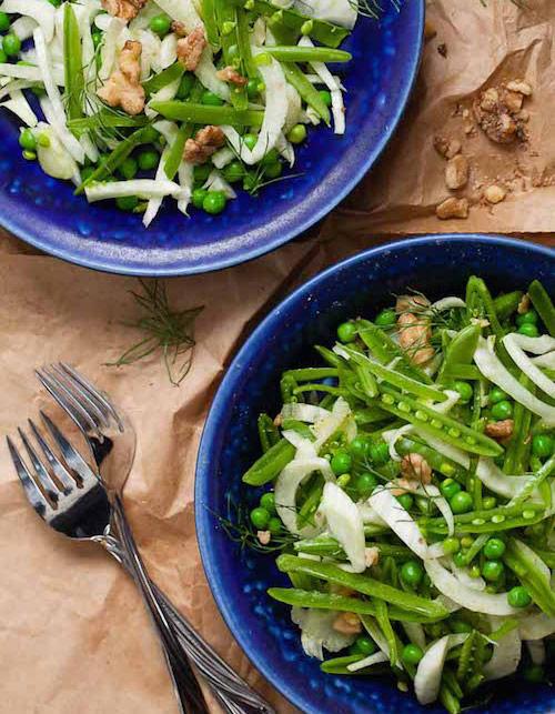 Sugar snap pea fennel salad