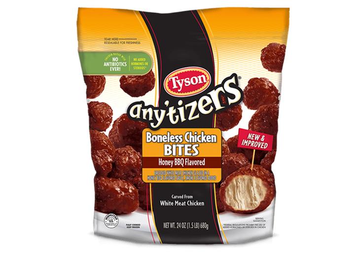 Tyson anytizers bbq chicken bites
