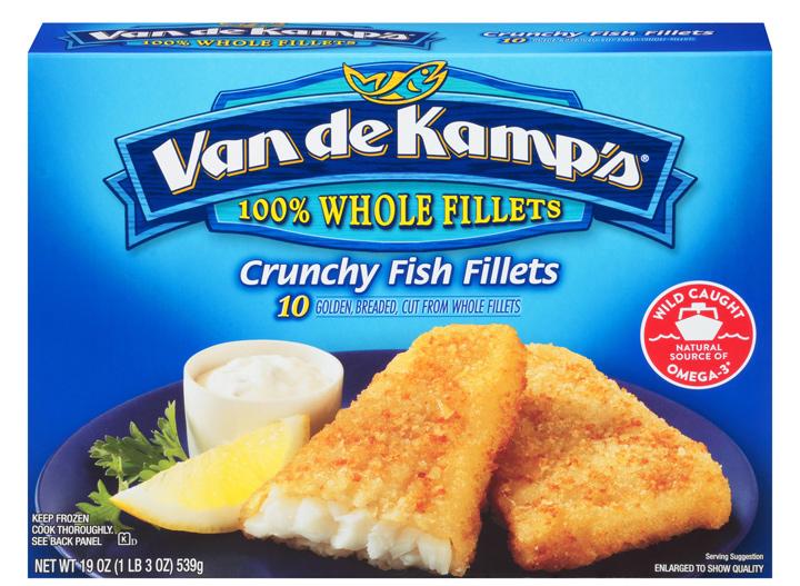 Van de kamp crunchy fish fillet