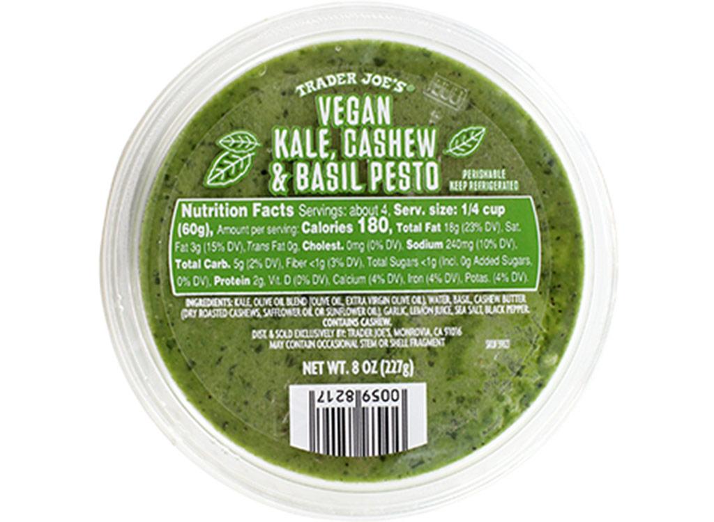 Trader joes Vegan kale cashew basil pesto