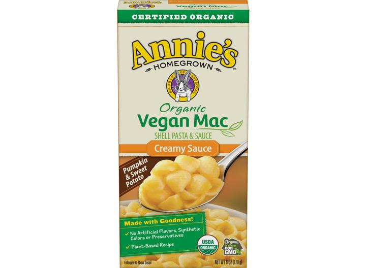 Annies organic vegan mac and cheese