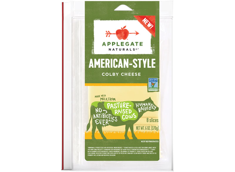 Applegate naturals american style colby cheese