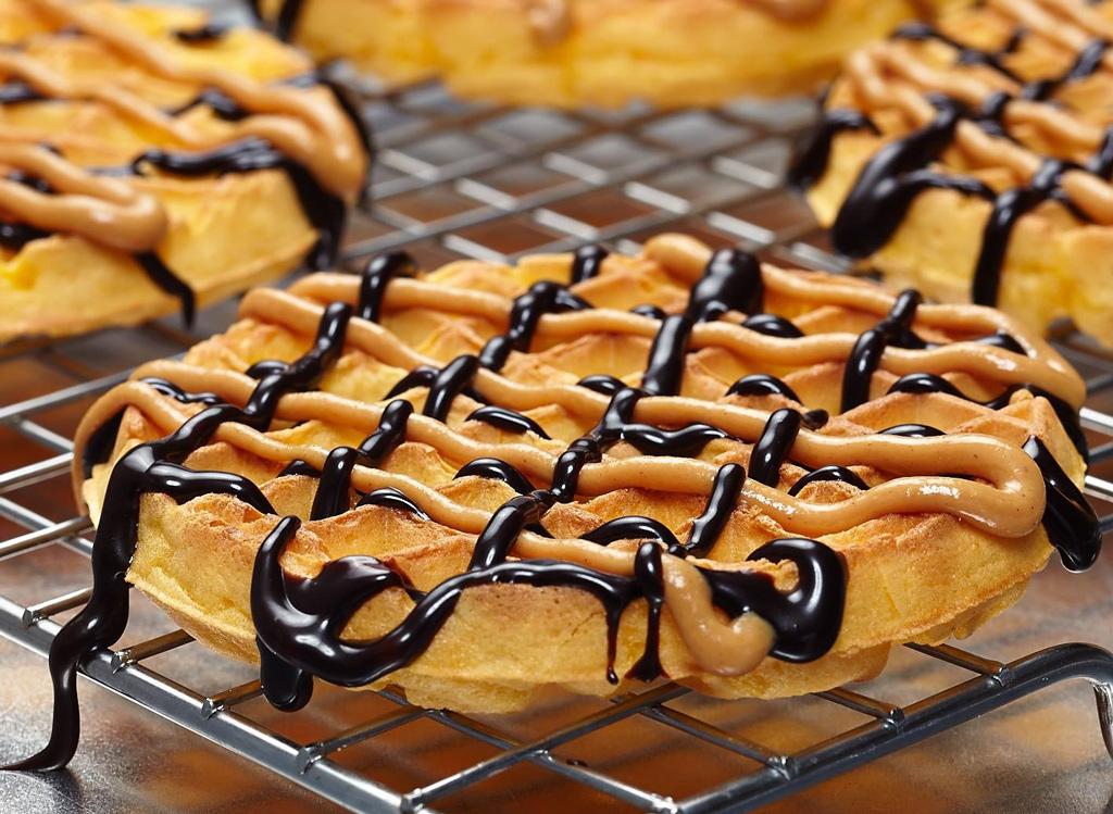 Aunt Jemima waffles with chocolate