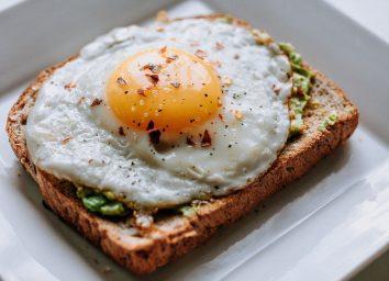 Avocado and egg toast