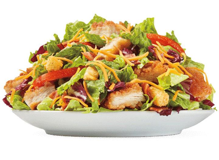 Burger king crispy chicken club salad