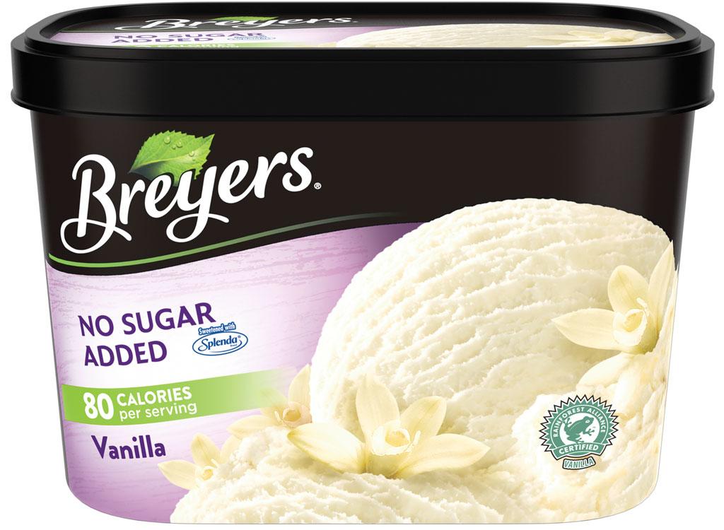 Breyers no sugar added vanilla
