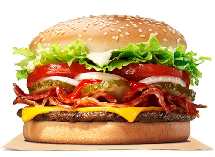 Burger king bacon cheese whopper