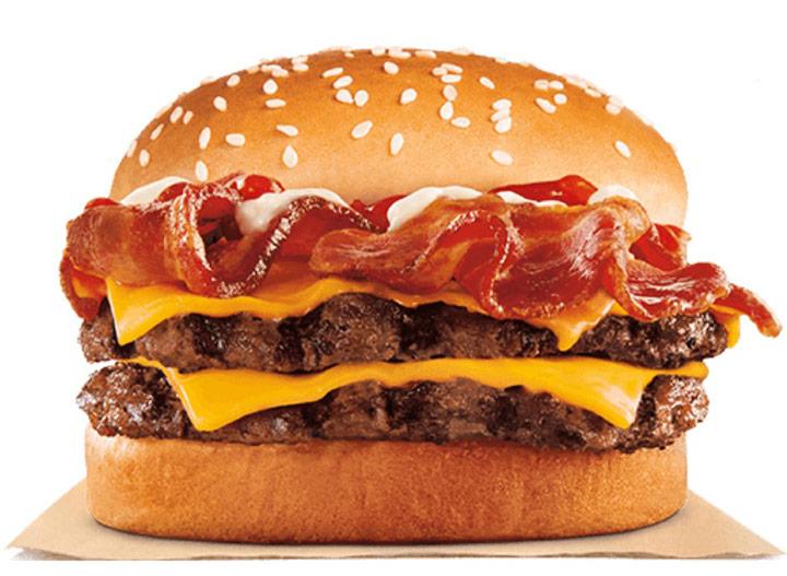Burger king bacon king jr sandwich