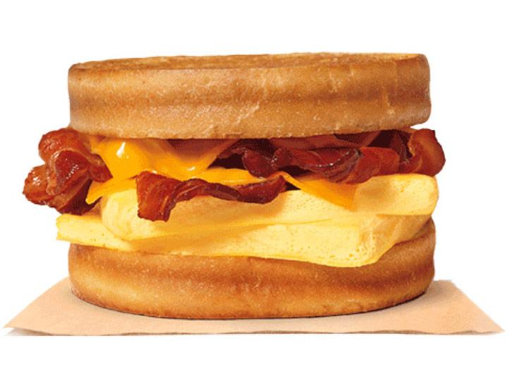 Burger king bacon sourdough king breakfast