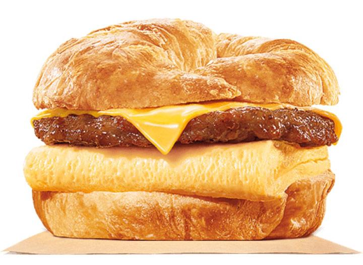 Burger king croissanwich egg cheese sausage sandwich