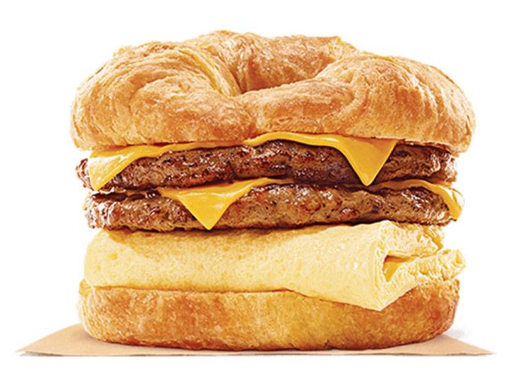 Burger king king croissant double sausage