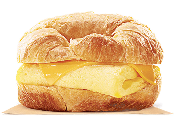 Burger king egg and cheese croissant