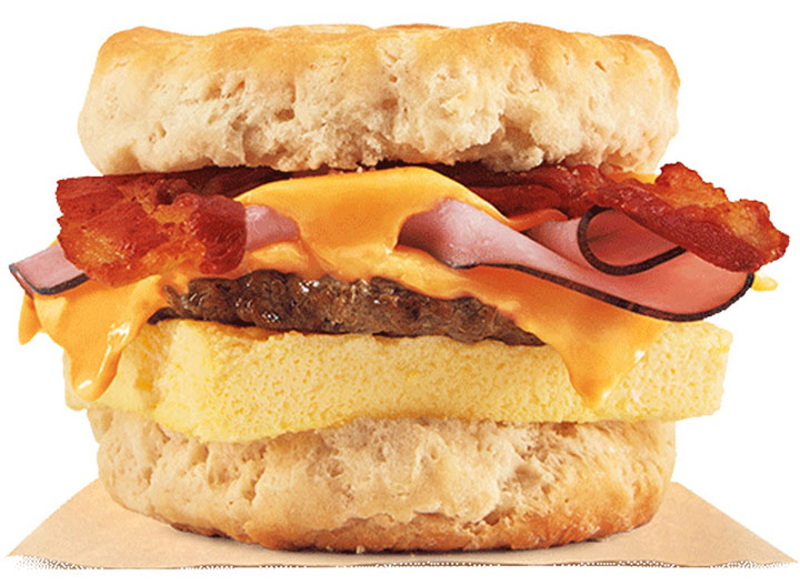 Burger king fully loaded biscuit