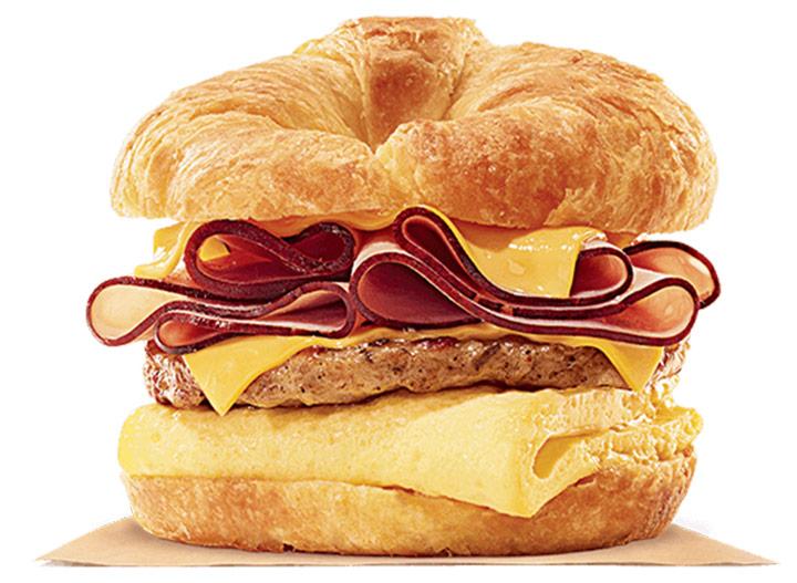 Burger king ham and sausage croisannwich