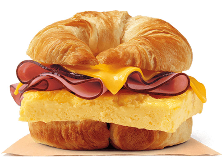 Burger king ham egg and cheese croissant