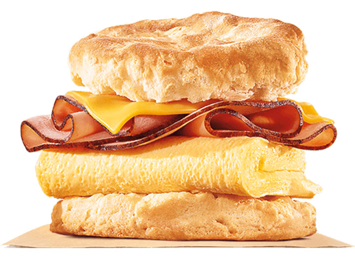Burger King ham egg cheese biscuit
