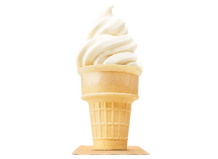 Burger king vanilla soft serve ice cream cone