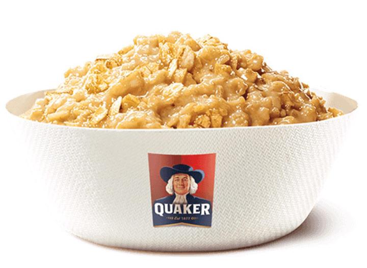 Burger king original maple flavored quaker oatmeal