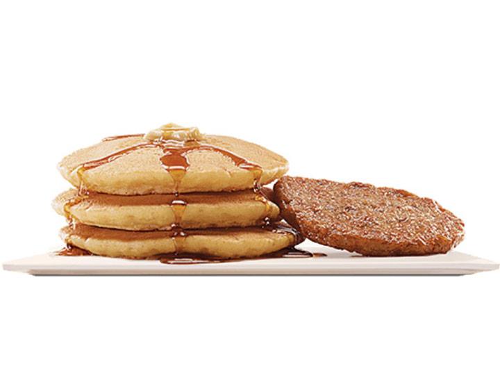 Burger king pancakes and sausage platter