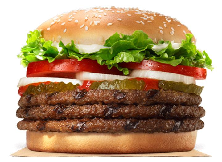 Burger king triple whopper