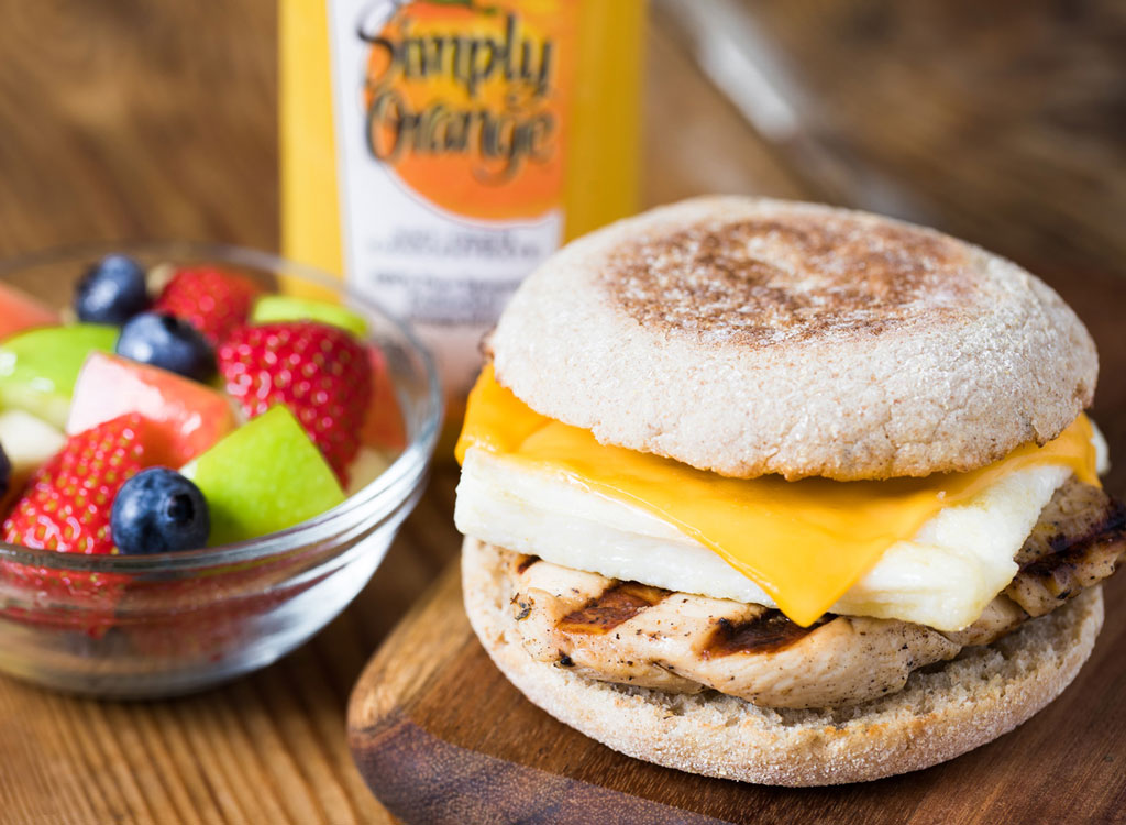 Chick fil a grilled chicken egg white sandwich fruit