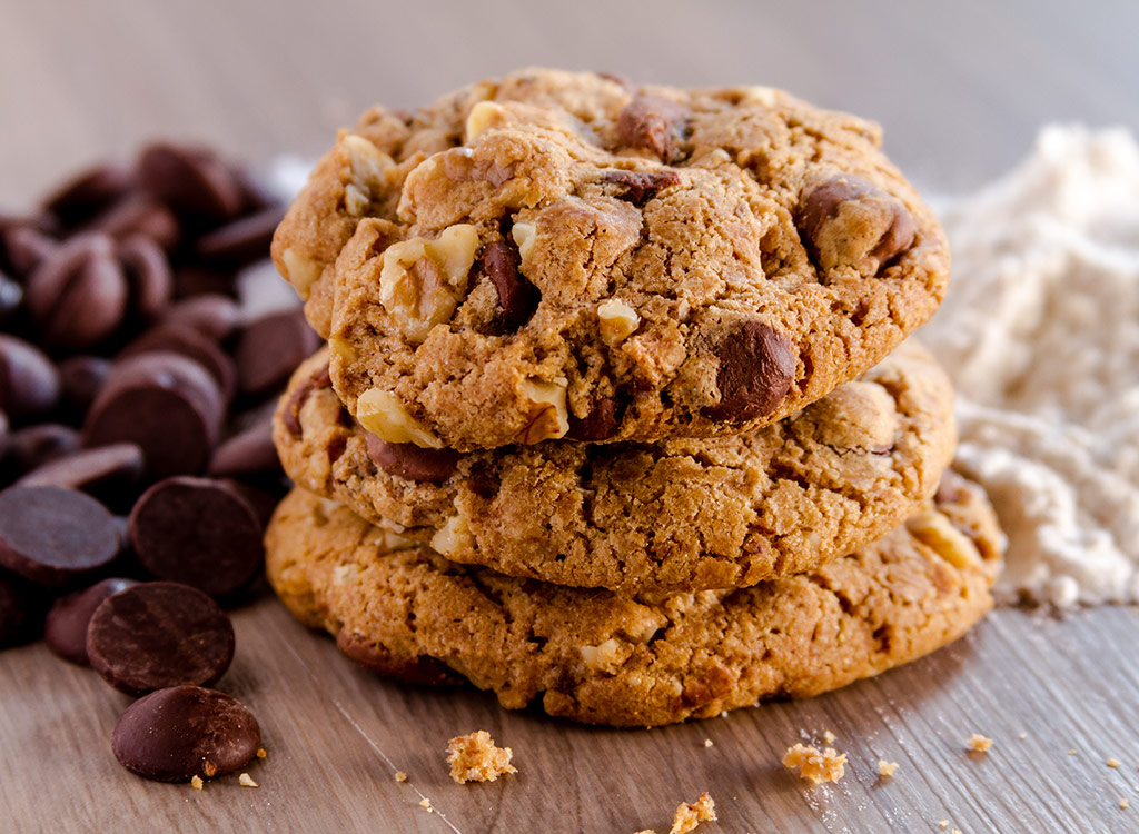 Chocolate chip cookies with nuts