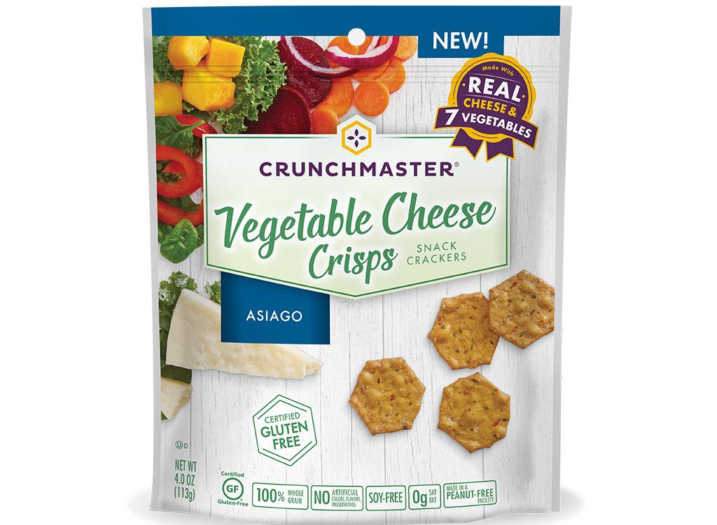 Crunchmaster vegetable cheese crisps