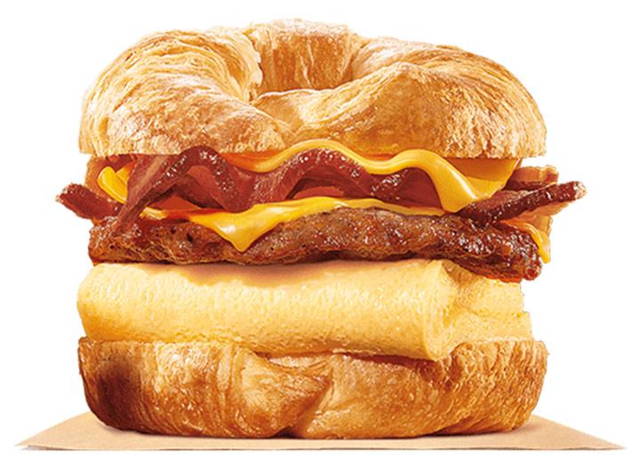 Burger king double croissanwich bacon sausage