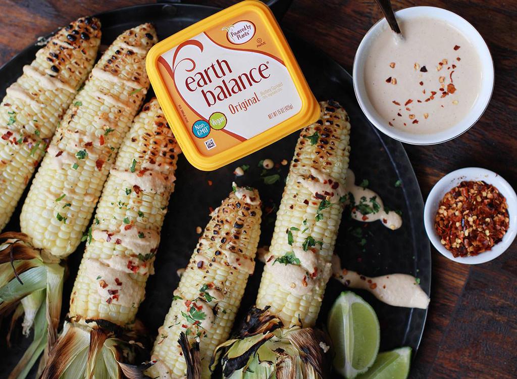 Earth Balance butter and corn