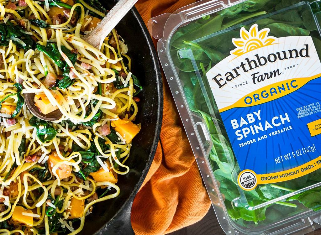 Earthbound Farm spinach pasta