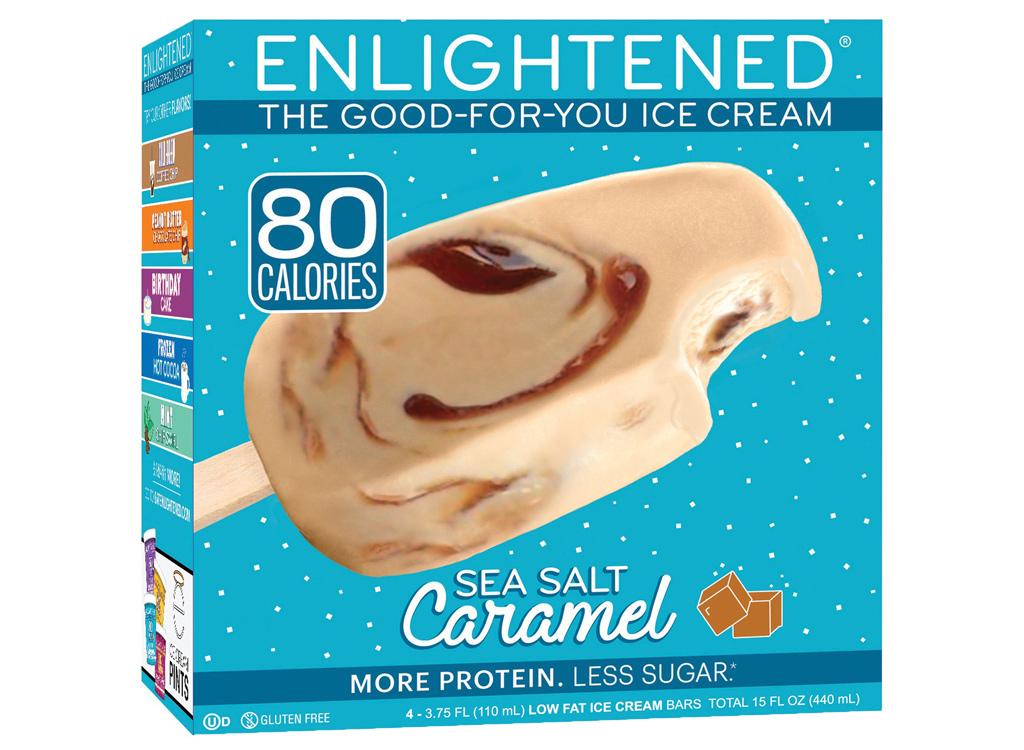 Enlightened sea salt caramel bar