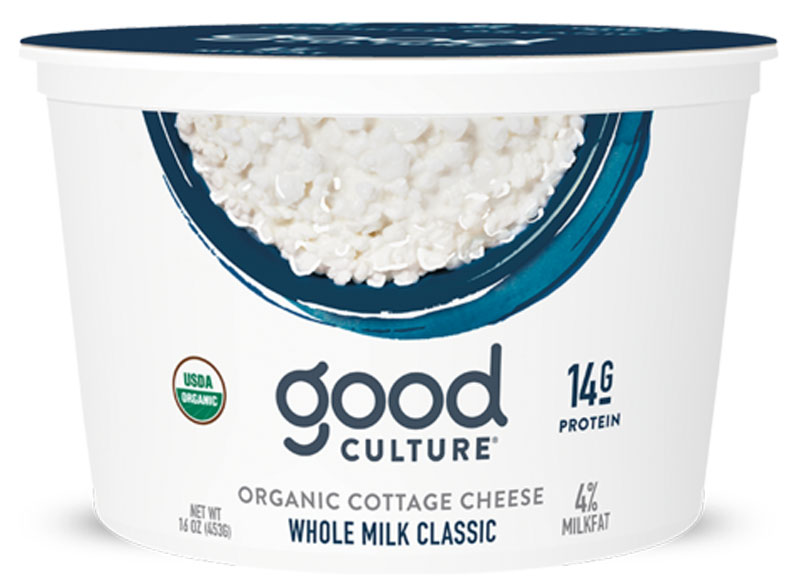 Good culture organic cottage cheese whole milk classic