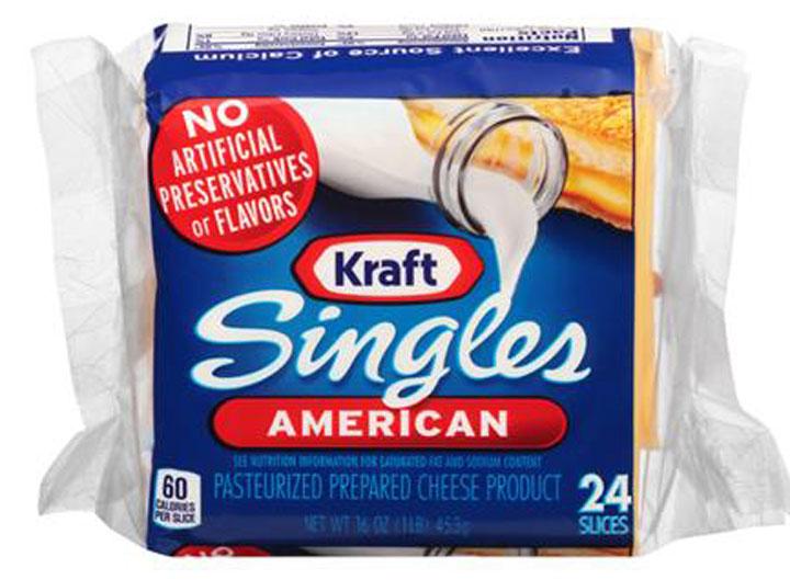 Kraft american singles pasteurized prepared cheese product