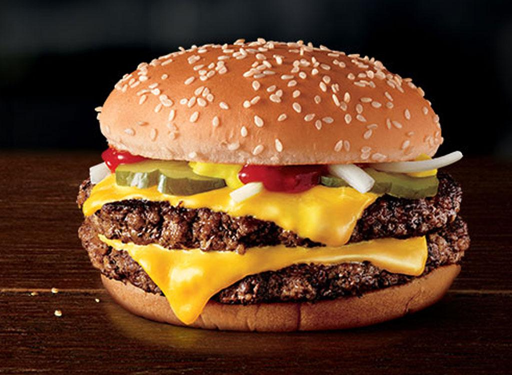 Mcdonald's double quarter pounder burger