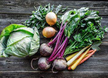 Farmer's market veggies