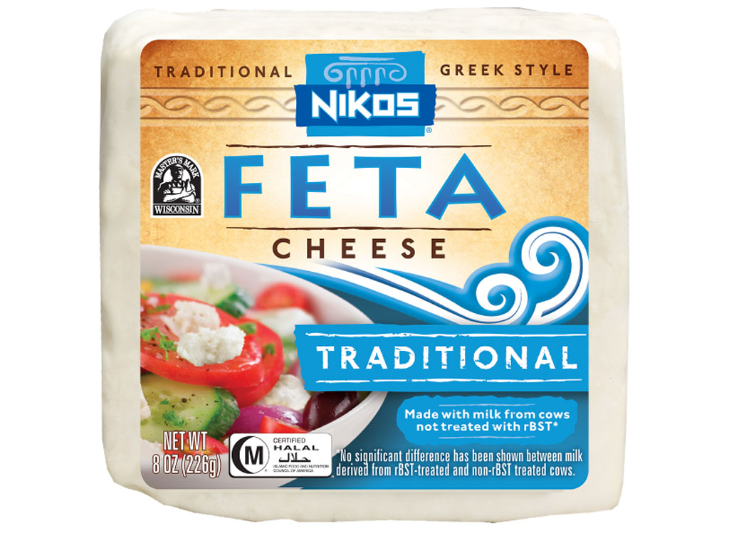 Nikos feta cheese block