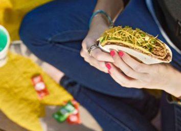 Taco bell double decker taco