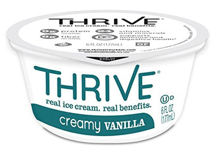 Thrive creamy vanilla ice cream