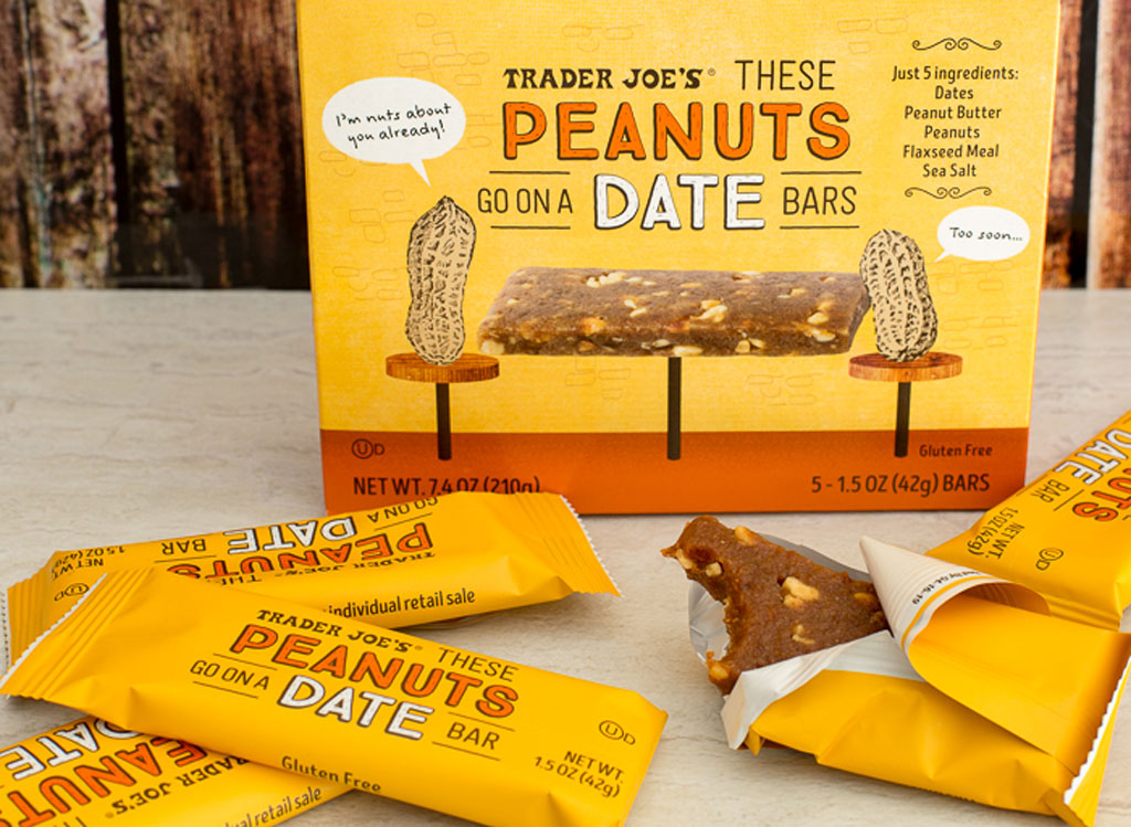 Trader joes peanuts go on a date bars