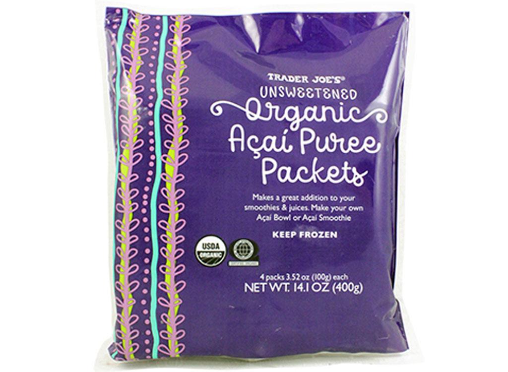 trader joes organic acai packets