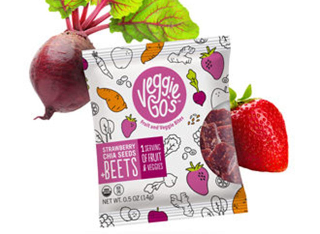 Veggie gos strawberry beets chia seeds bites