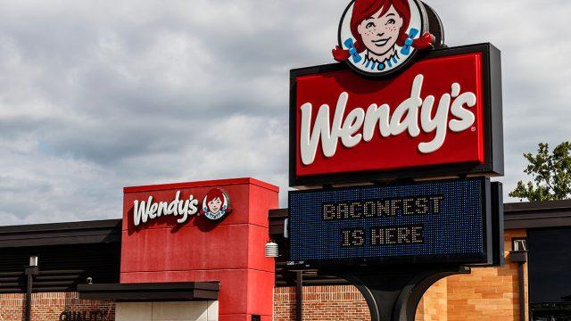 wendys baconfest sign