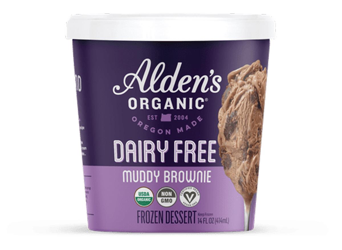 Aldens organic dairy free muddy brownie