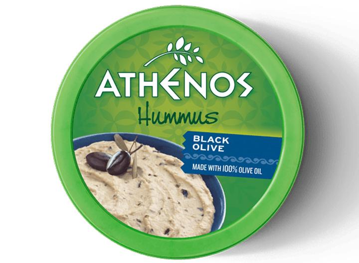 Athenos black olive hummus