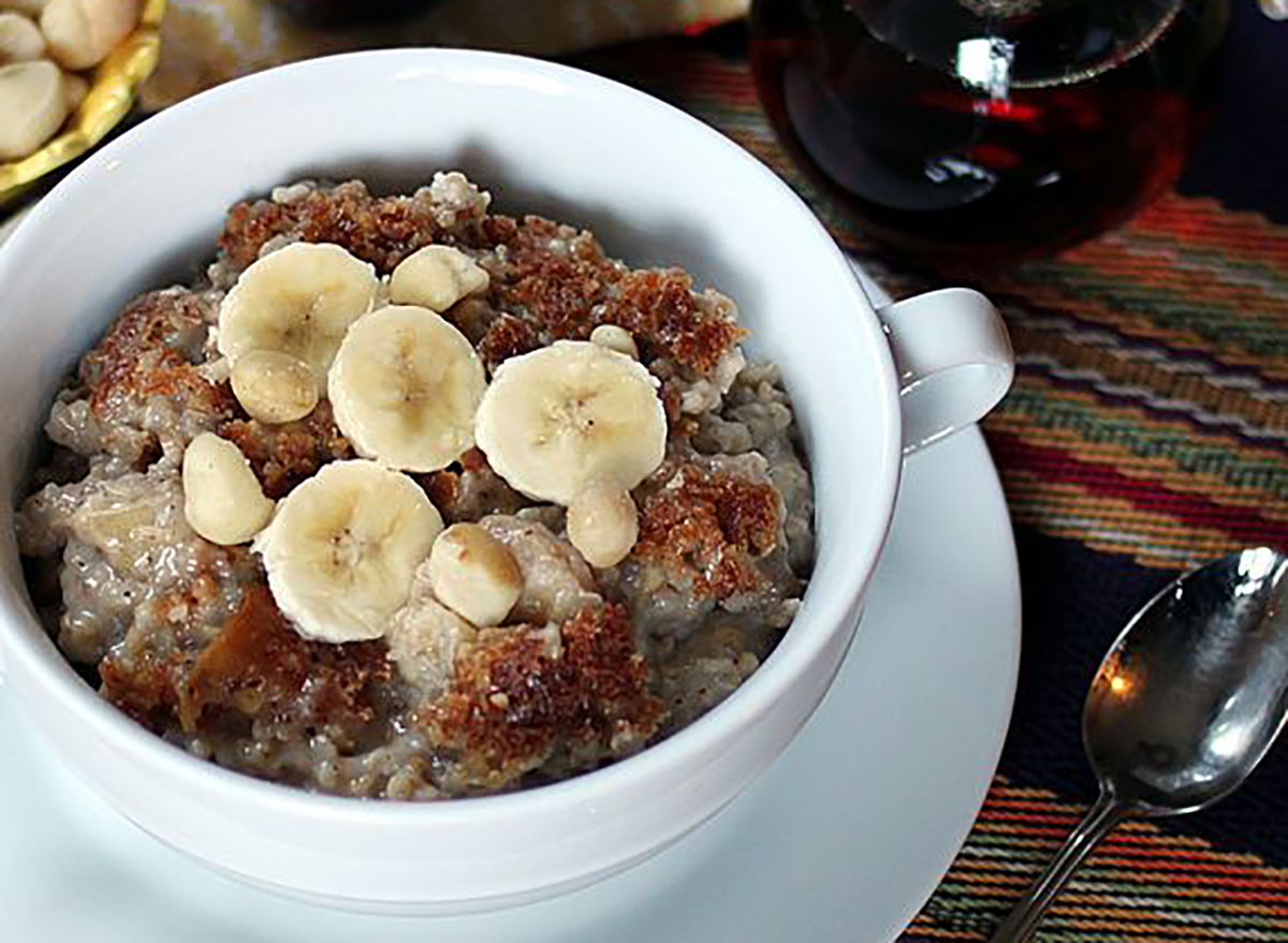 bowl of banana coconut oatmeal